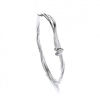 Cavendish Fransız Stranded Kalp Gümüş Bileklik
