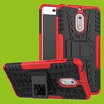 For Nokia 3.1 5.2 tommers 2018 hybrid tilfelle bag 2 stykke Koczian utendørs røde tilbehør coveret beskyttelse