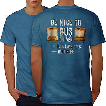 Bus Driver Funy Men Royal BlueT-shirt Back | Wellcoda