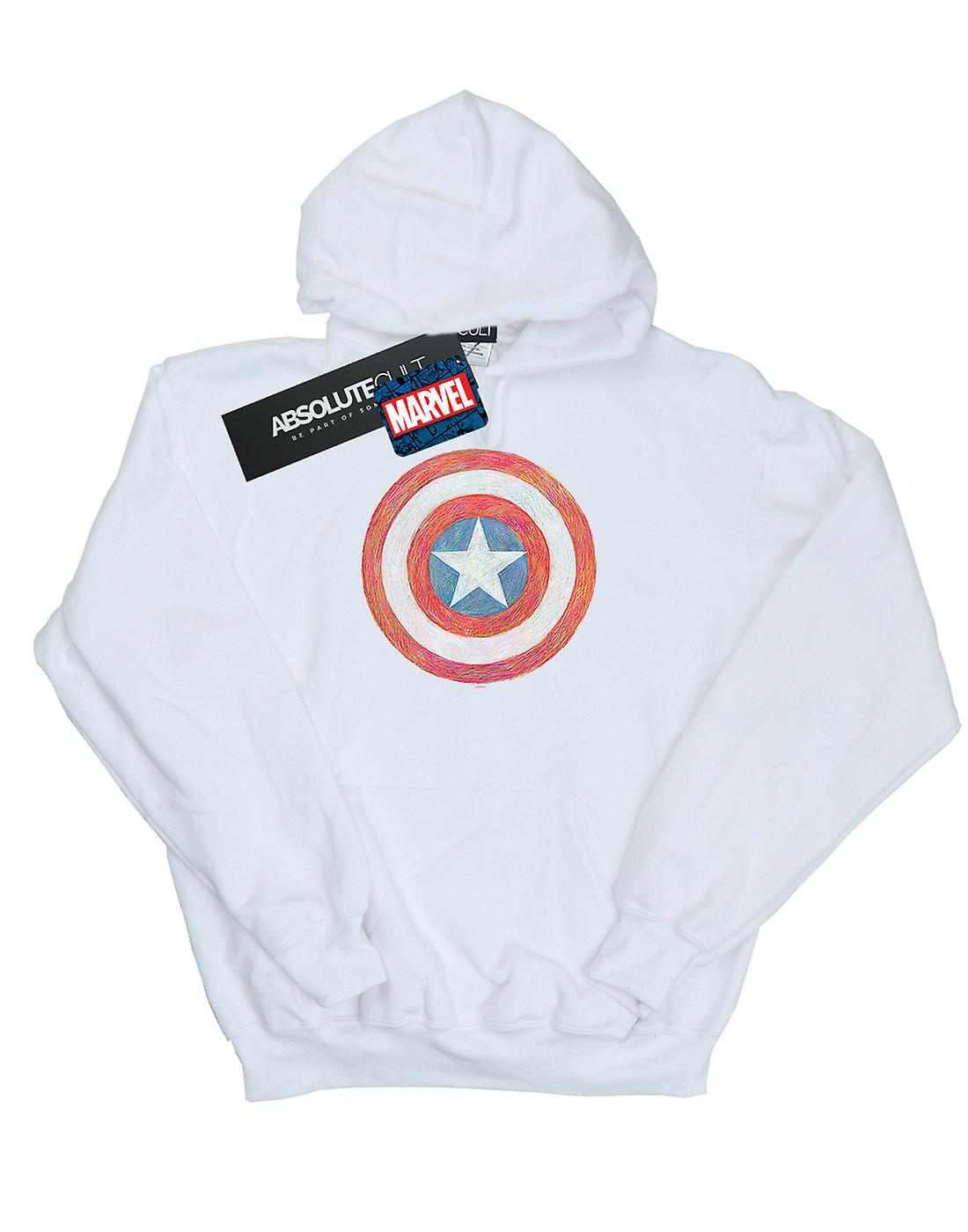 Marvel Men's Captain America Sketched Shield Hoodie