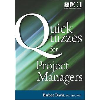 Quick Quizzes for Project Managers by Barbee Davis - 9781935589105 Bo