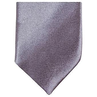 Gravata de poliéster magro Neckwear Knightsbridge - prata escuro
