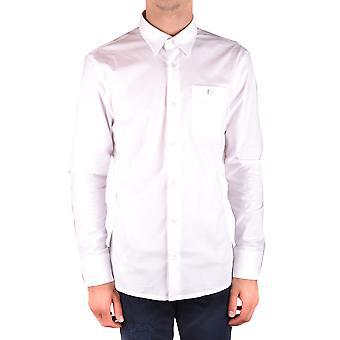 Bikkembergs Ezbc101045 Men's White Cotton Shirt