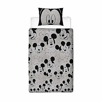 Mickey Mouse Silhouette Single Duvet Cover Set