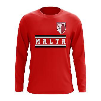 Malte Core Football pays manches longues T-Shirt (rouge)