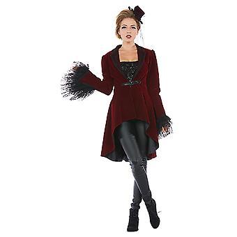 Burlesque frakke damer kostume kjole karneval