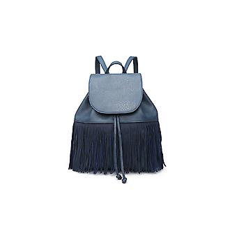 IKRUSH Womens Cindee Faux Leather Fringe Backpack Bag