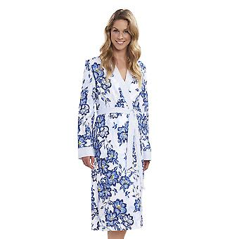Ràsch 1193140-11573 Femmes-apos;s New Romance Indigo Flowers Blue Floral Cotton Robe