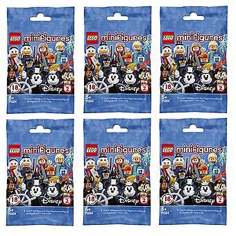 LEGO 024X6 Minifiguren Disney Serie 2 - 6 Figuren nach Zufall ausgewählt