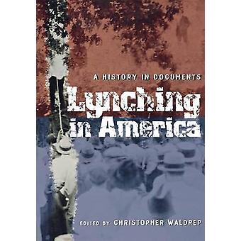 Lynching in America - A History in Documents by Christopher Waldrep -