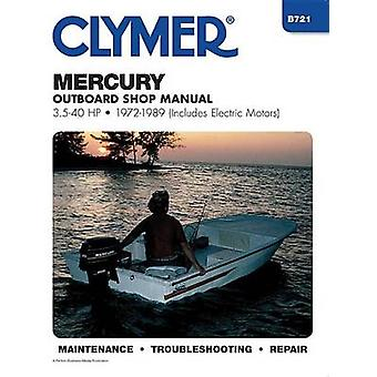 Mercury B721 OutboardsShop Manual 3.5-40 H.P. - 1972-89 (Includes Ele