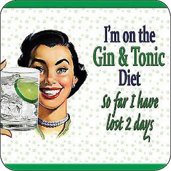 I'm on the Gin & Tonic Diet.. Melamine drinks mat / coaster (og)