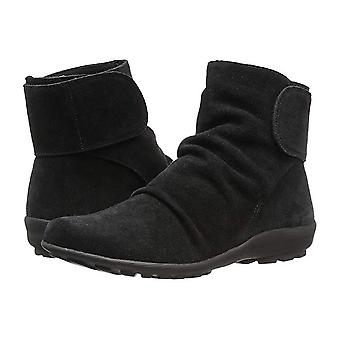 Walking Cradles Womens Harlow Leather Round Toe Ankle Fashion Boots