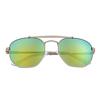 Sixty One Stockton Polarized Sunglasses - Silver/Yellow-Green