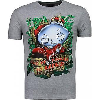 Rich Stewie-T-shirt-Grey