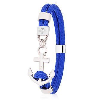 Skipper Anchor armband Surfer band Maritime armband rostfrittstål mörkblå 8073