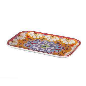 Rose & Tulipani Nador Small Stoneware Rectangular Tray, 20x13cm