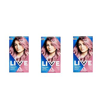 Schwarzkopf Live Lightener & Twist 105 Mauve Kiss Hair Colouring Dye x3