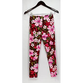 American Twist Los Angeles Pants Floral Printed Skinny Leg Purple