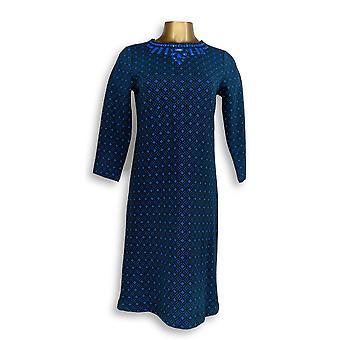 C. Wonder kjole XXS jacquard strikk 3/4 erme med beading blå A281813