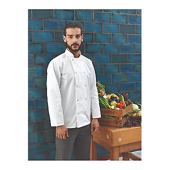 Premier studded front long sleeve chef's jacket pr665