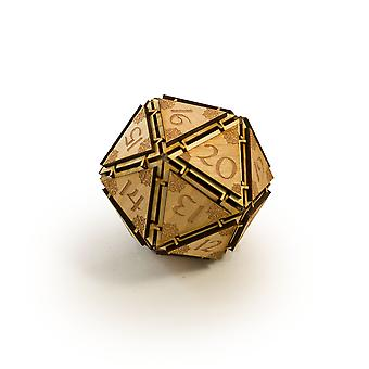 Crafts - large 20 sided dice -art kit-raw wood 3