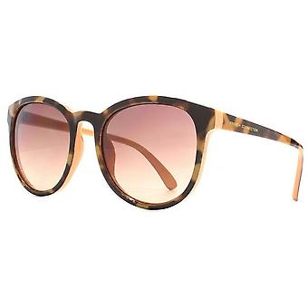 French Connection Soft Preppy Sunglasses - Peach/Brown