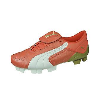 Puma V Konstrukt II GCi FG dame læder fodboldstøvler-koral