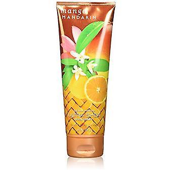 Bath & Body Works Mango Mandarin Ultra Shea Body Cream 8 oz / 226 g (Pack of 2)