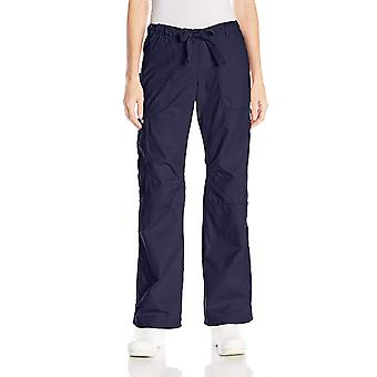 KOI Women's Lindsey Ultra Comfortable Cargo Style Scrub, Navy, Size Small Tall