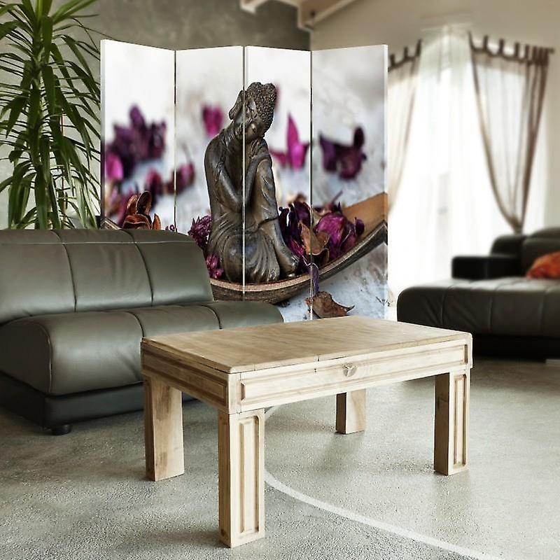 Diviseur de chambre, 4 panneaux, Double-Sided, Toile, Bouddha Flakes