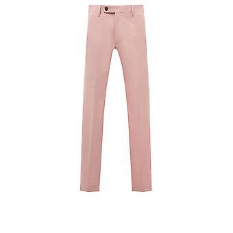 Benytte London menns lys rosa Dress bukser Skinny Fit