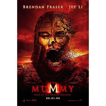 De mummie: graf van de draak keizer (dubbelzijdig vooruit) (UV gecoat/hoogglans) originele Cinema poster