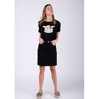 Nadine short denim skirt - black