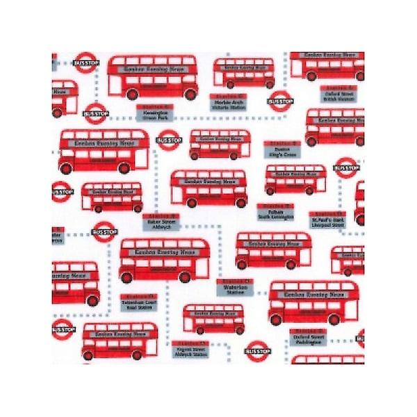 Union Jack Wear London Red Bus / Bus Stop Fabric