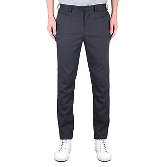 Fred Perry X Miles Kane Tailored Fit Fine Check Pantalones Grises Carbón