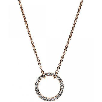 Diamond Collier Collier - Circle - 14K 585/- Red Gold - 0.18 ct.