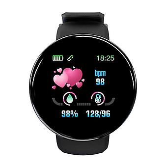 Stuff Certified ® Original D18 Smartwatch Curved HD Smartphone Fitness Sport Activity Tracker Watch iOS Android iPhone Samsung Huawei Black