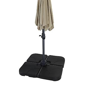 Charles Bentley 4 Piece Plastic Fillable Parasol Base - Black