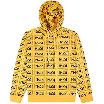 Mcq Alexander Mcqueen McQ Alexander McQueen All Over Logo Hoodie Yellow