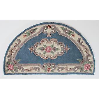 Lotus Premium Aubusson teppe-Half Moon-blå