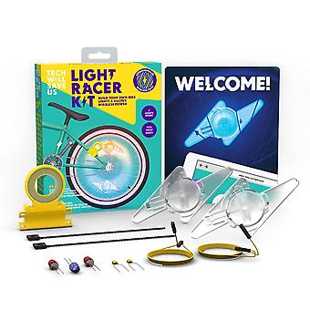 Tech Will Save Us Light Racer Kit | Educational STEM DIY Bike Light Toy, Gift for Boys, Girls, Kids Ages 8 and up