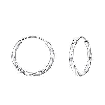 Hoop - 925 argent Sterling oreille créoles - W559X