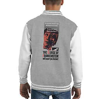 Hammer Horror Films Frankenstein Will Haunt You Forever Kid's Varsity Jacket