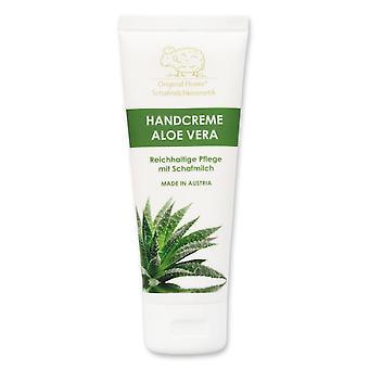 Florex Handcreme Aloe Vera -  Reichhaltige intensive Pflege bei trockenen strapazierten Händen mit Schafmilch ohne Palmöl 75 ml