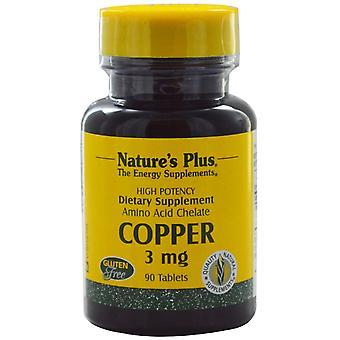 Koper, 3 mg (90 tabletten)-natuur ' s plus