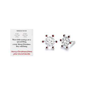 Sterling silver snowflake earrings choice of accompanying gift card