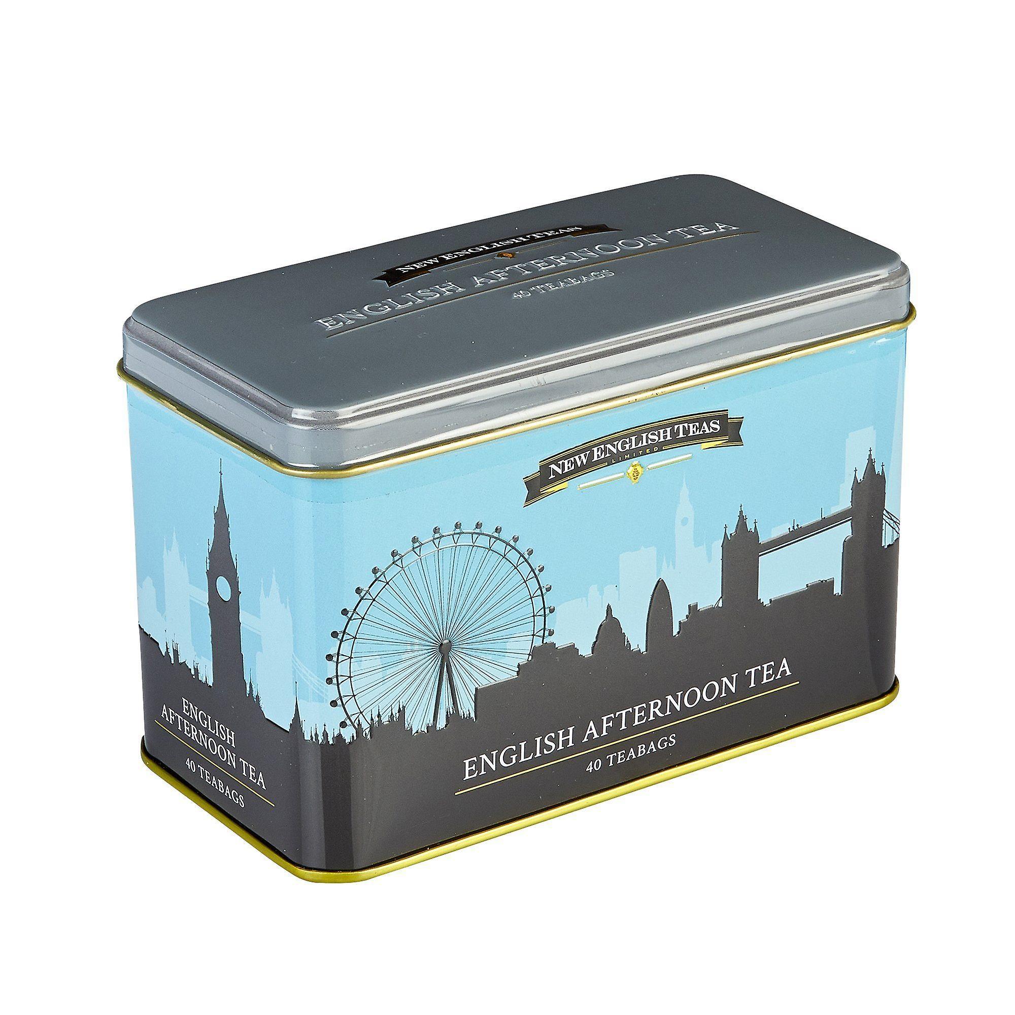 London skyline english afternoon tea