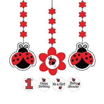 Ladybug Party Hangedeko 3 Piece Deco Beetle Party Children's Wedding Day