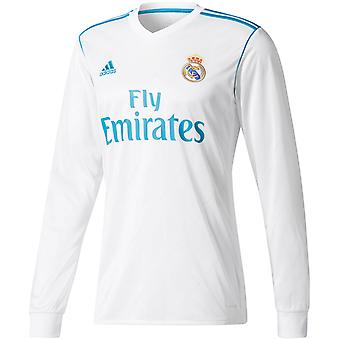 adidas Performance Boys Real Madrid Long Sleeve Football Home Jersey-White-7TO8Y